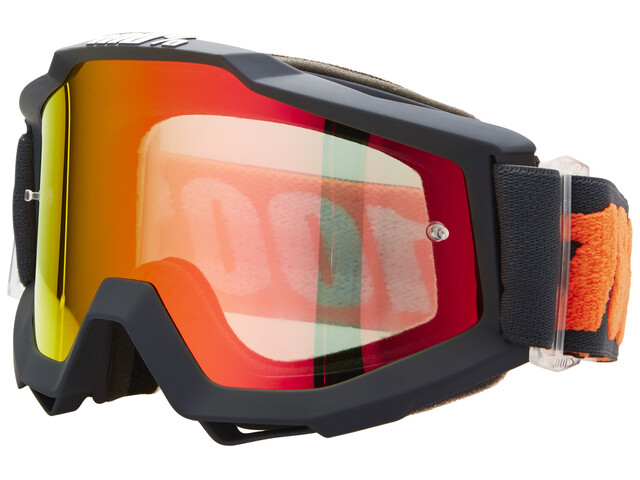 100% Accuri Anti Fog Mirror Goggles gunmetal